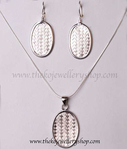 Shop online for women's silver office wear pendant set