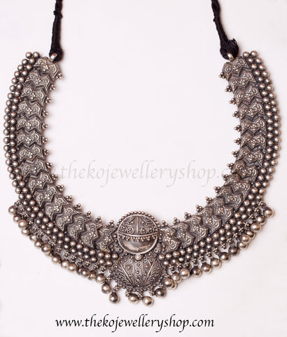 Addige necklace party wear pure silver necklace buy online