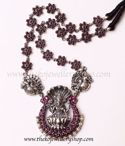 Online shopping pure silver ganesha necklace