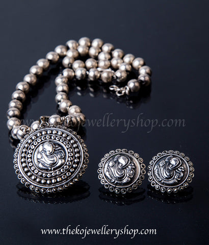 925 sterling silver necklace set for women