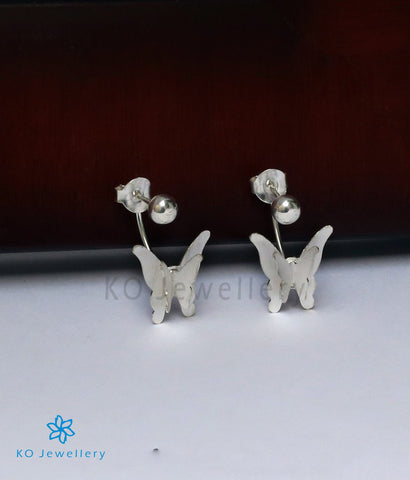 The Silver Butterfly Ear-Jackets