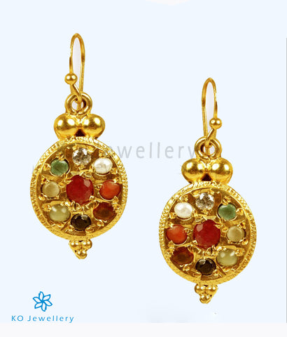 The Ratnavali Navratna Earrings
