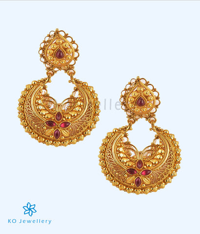 The Vidisha Silver Chand-Bali Earrings