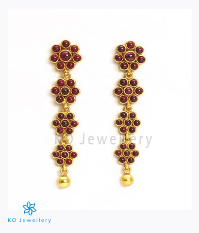 The Alpa Silver Kempu Earrings (Red)
