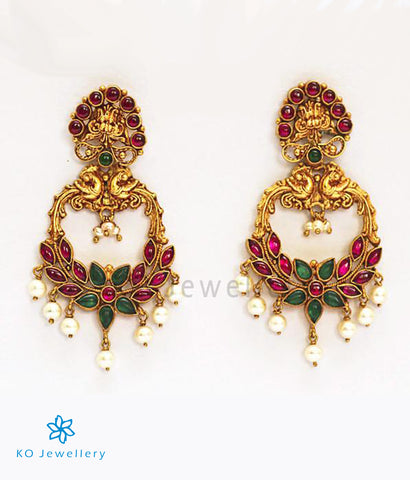 The Atyuha Silver Kempu Earrings