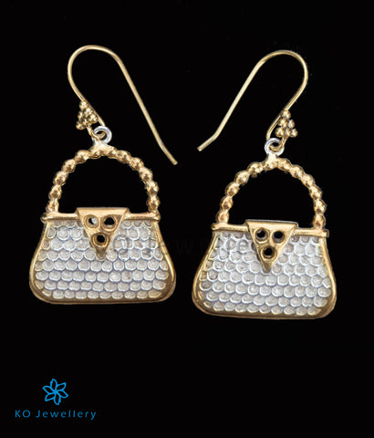 The Silver Purse Earrings