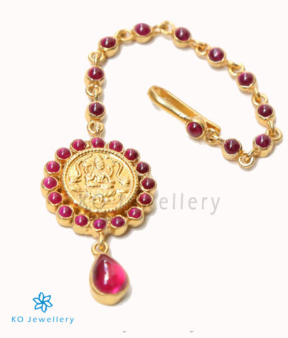 Bridal maang tikka temple jewellery gold plated