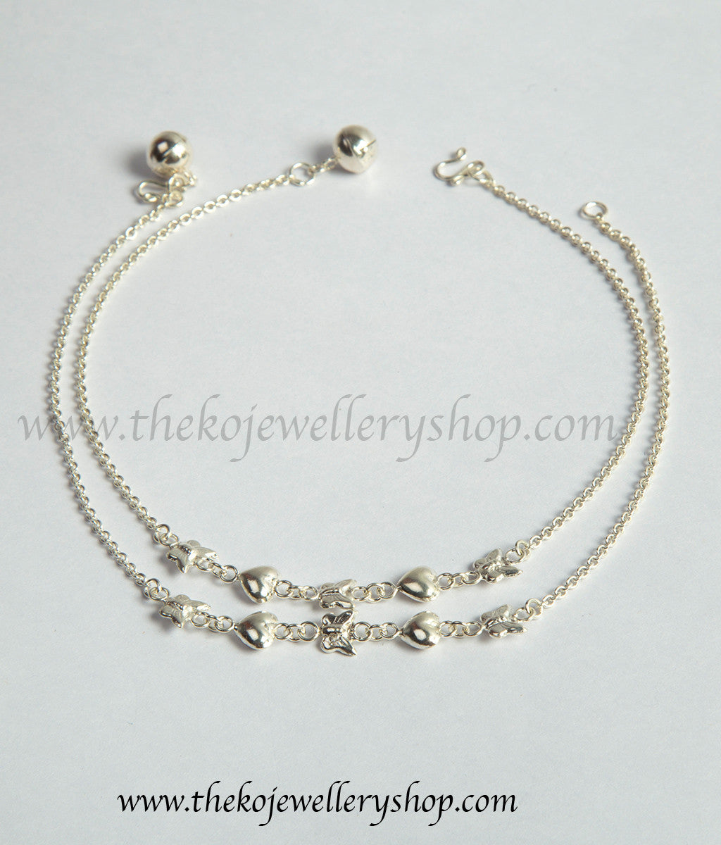with buy product online design anklet silver anklets circular best voylla prices