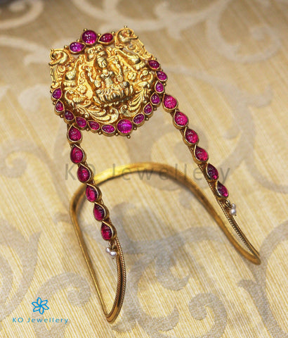 The Prakriti Silver Bridal Lakshmi Armlet or Vanki