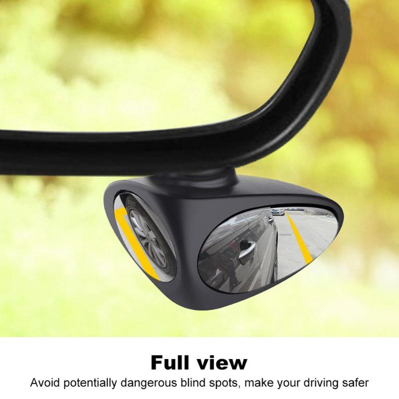 360 Rotation Adjustable Convex Rear View Mirror View 2 In 1 Car Blind Spot Mirror Wide Angle Mirror Car Mirror