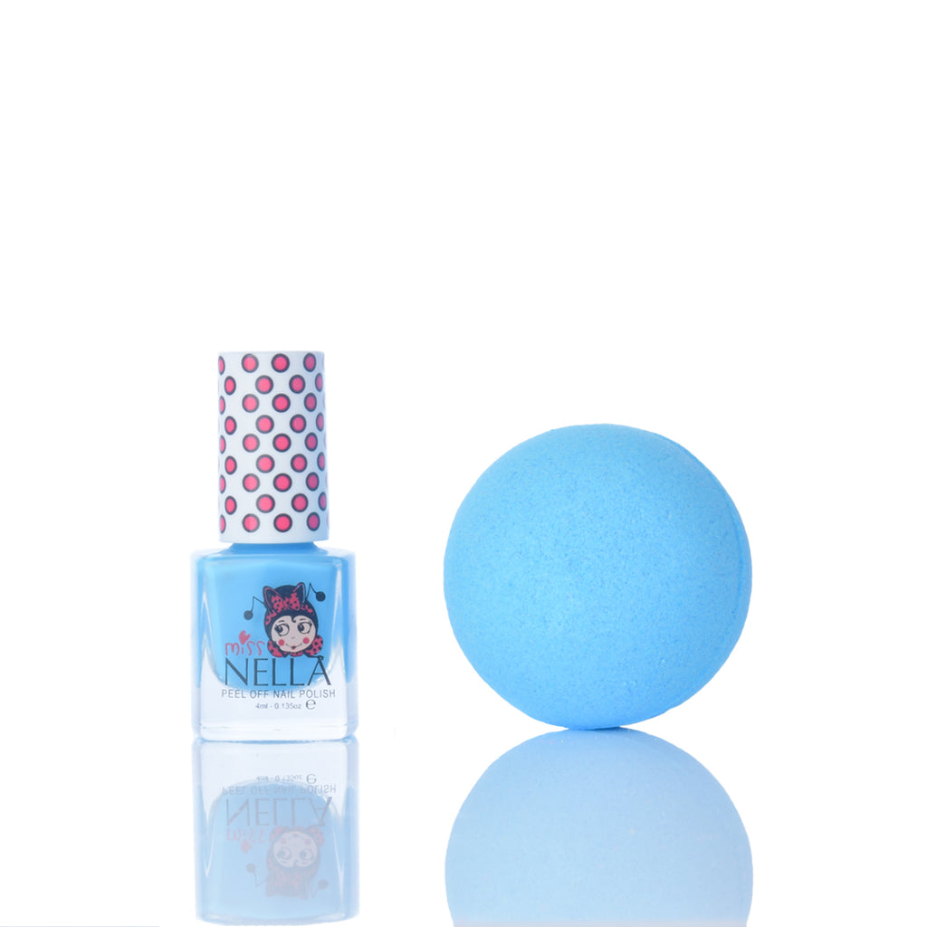 Smalto Mermaid Blue e bomba da bagno
