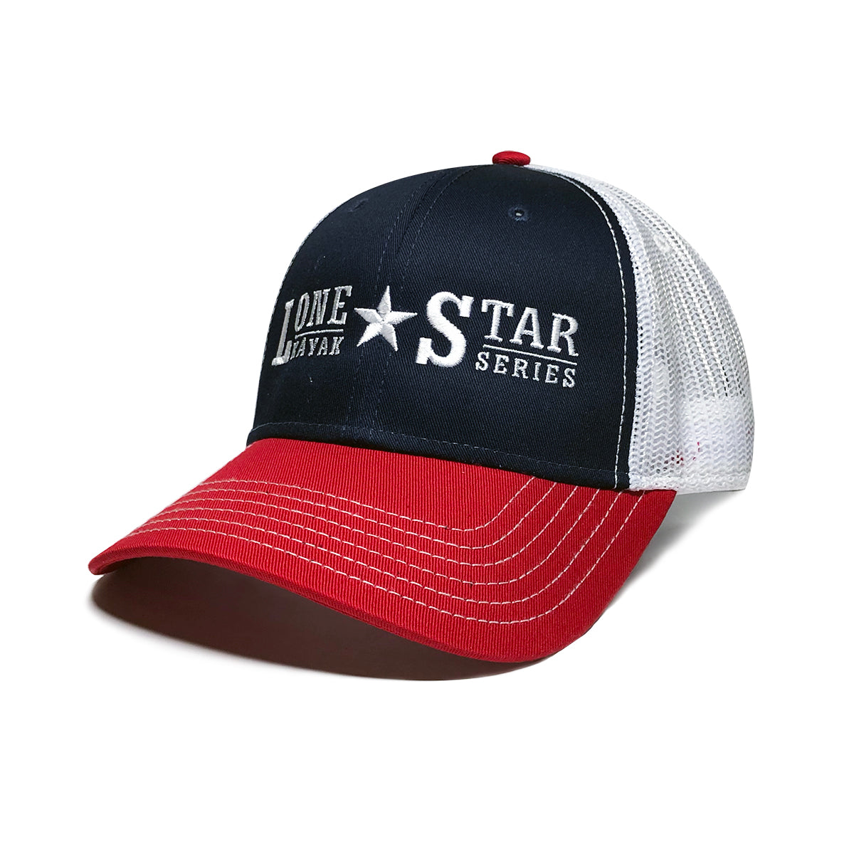 Lone Star Kayak Series Hat: Red/Navy/White
