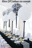 "Black Round Latex Giant XXL Extra Large Helium Balloon 60cm (24"") OR 90cm (36"") - Best of the Bunch Florist Wellington"
