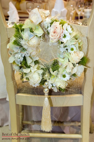 Chair Flowers Luxury - Chair Flower Decoration - Best of the Bunch Florist Wellington