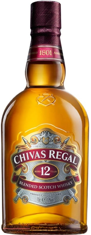 Chivas Regal Whisky 12 Year Old - Blended Scotch Whisky - Delivered In Original Presentation Gift Box - Best of the Bunch Florist Wellington