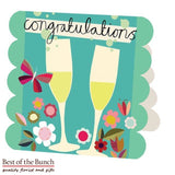 Congratulations Greeting Card - Best of the Bunch Florist Wellington