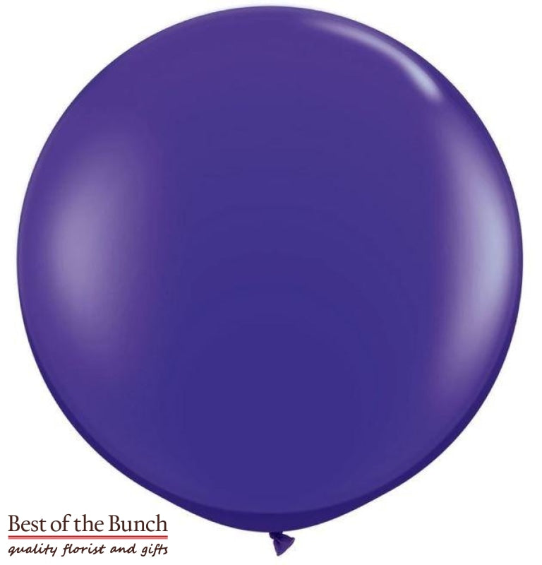 "Dark Purple Round Latex Giant XXL Extra Large Helium Balloon 60cm (24"") OR 90cm (36"") - Best of the Bunch Florist Wellington"