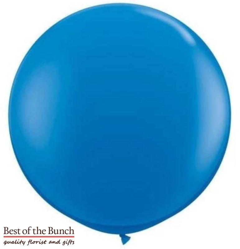 "Dark Royal Blue Round Latex Giant XXL Extra Large Helium Balloon 60cm (24"") OR 90cm (36"") - Best of the Bunch Florist Wellington"