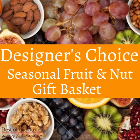 Designers Choice Seasonal Fruit & Nut Gift Basket - Best of the Bunch Florist Wellington