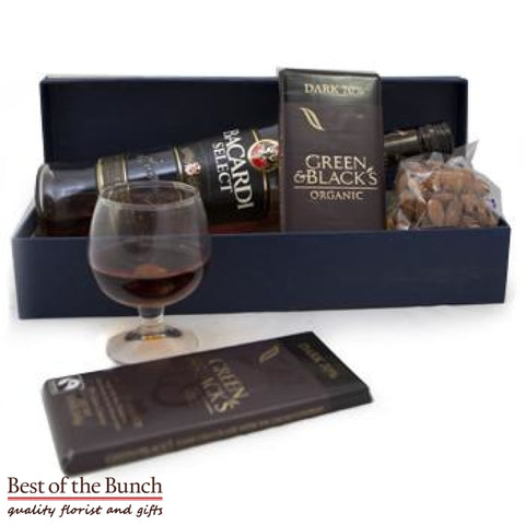 Gift Box Bacardi Rum & Chocolate With Nuts - Best of the Bunch Florist Wellington