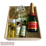 Gift Box Beauty Pamper Pack For Her With Sparkling Grape Juice - Best of the Bunch Florist Wellington