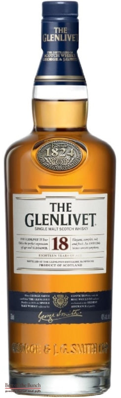 Glenlivet 18 Year Old - Single Malt Scotch Whisky - Delivered In A Gift Box - Best of the Bunch Florist Wellington