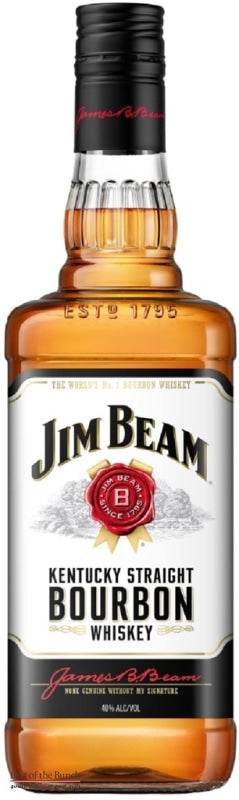 Jim Beam Kentucky Straight Bourbon Whiskey (1000ml) American Whiskey - Delivered In A Gift Box - Best of the Bunch Florist Wellington