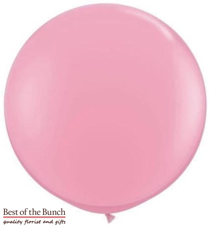 "Light Baby Pink Round Latex Giant XXL Extra Large Helium Balloon 60cm (24"") OR 90cm (36"") - Best of the Bunch Florist Wellington"
