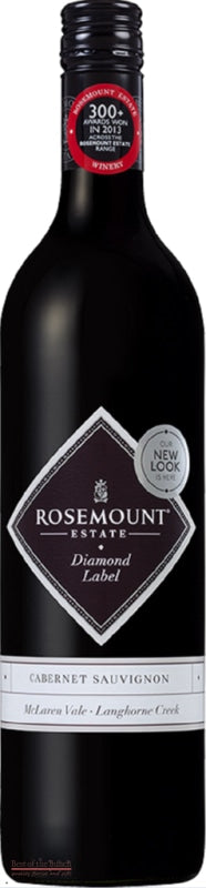 Rosemount Estate Diamond Label McLaren Vale Australian Cabernet Sauvignon - Wine Delivered In A Wine Gift Bag / Box - Best of the Bunch Florist Wellington