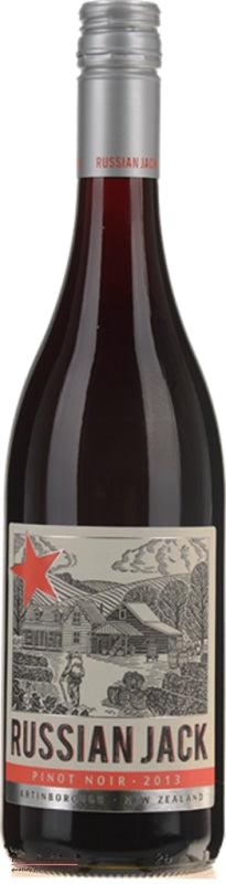 Russian Jack Martinborough Pinot Noir - Wine Delivered In A Wine Gift Bag / Box - Best of the Bunch Florist Wellington
