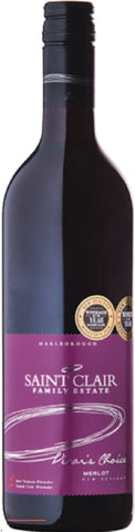 Saint Clair Vicars Choice Marlborough Merlot - Wine Delivered In A Wine Gift Bag / Box - Best of the Bunch Florist Wellington