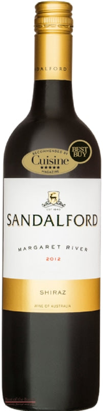 Sandalford Margaret River Shiraz Western Australia - Wine Delivered In A Wine Gift Bag / Box - Best of the Bunch Florist Wellington