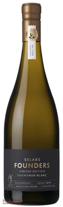 Selaks Founders Marlborough Sauvignon Blanc - Wine Delivered In A Wine Gift Bag / Box - Best of the Bunch Florist Wellington