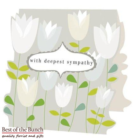 Sympathy Greeting Card - Best of the Bunch Florist Wellington
