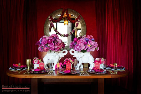 Table Flower Arrangement Bollywood - Best of the Bunch Florist Wellington