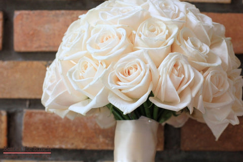 Wedding Bouquet Champagne - Formal Hand Tied Wedding Bouquet - Best of the Bunch Florist Wellington