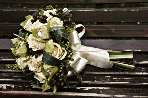 Wedding Bouquet Pearl Lustre - Formal Hand Tied Wedding Bouquet - Best of the Bunch Florist Wellington
