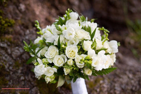 Wedding Bouquet White Truffle - Formal Hand Tied Wedding Bouquet - Best of the Bunch Florist Wellington