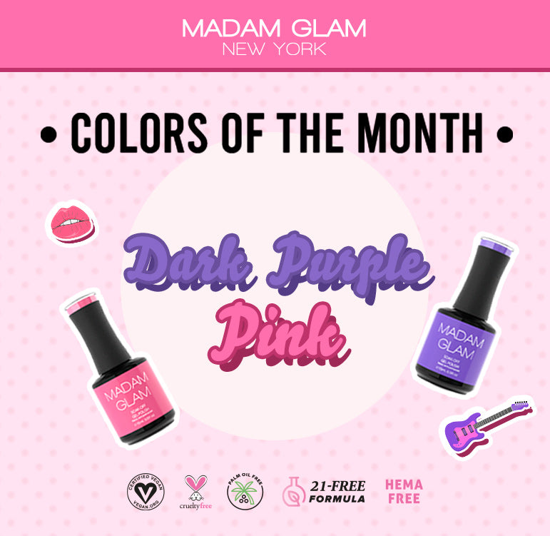 Colors of the Month: Pink vs Dark Purple