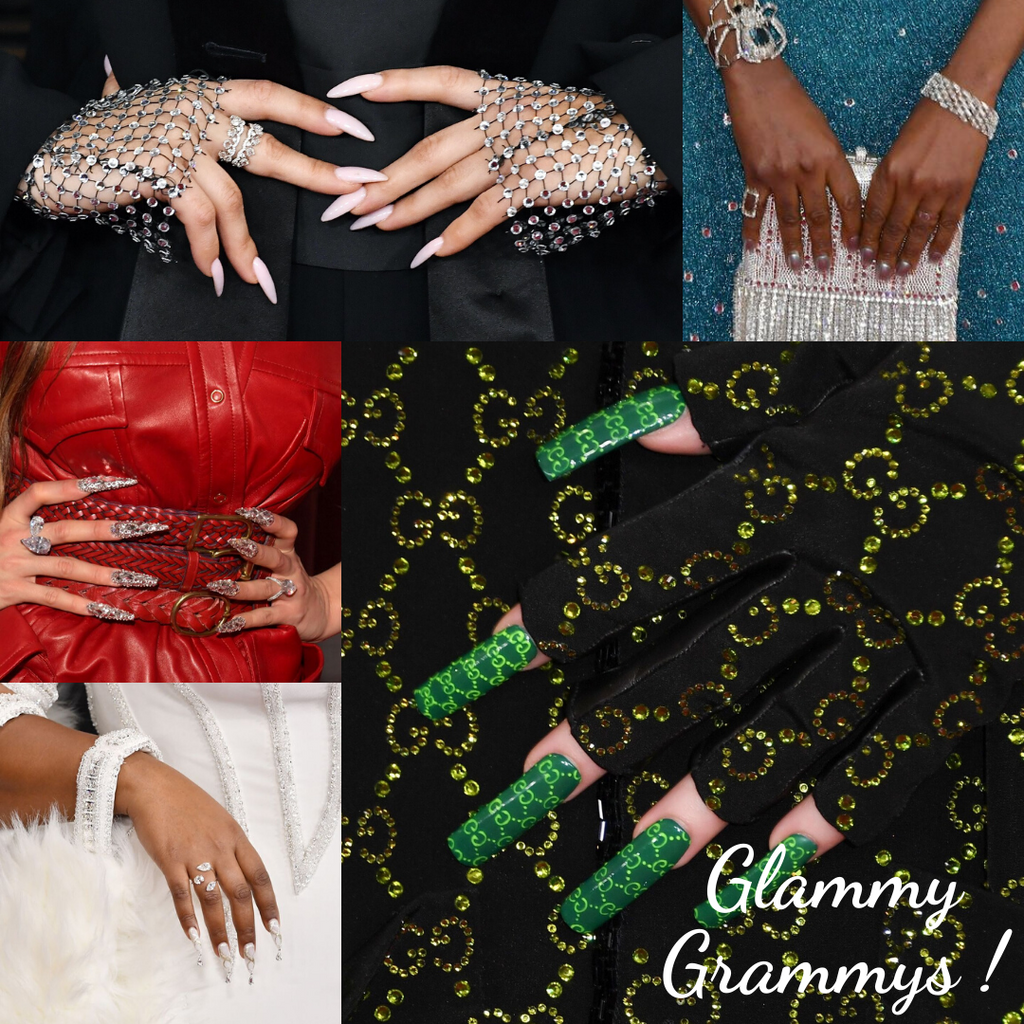 Ultra-Bold Nails spotted at Grammys