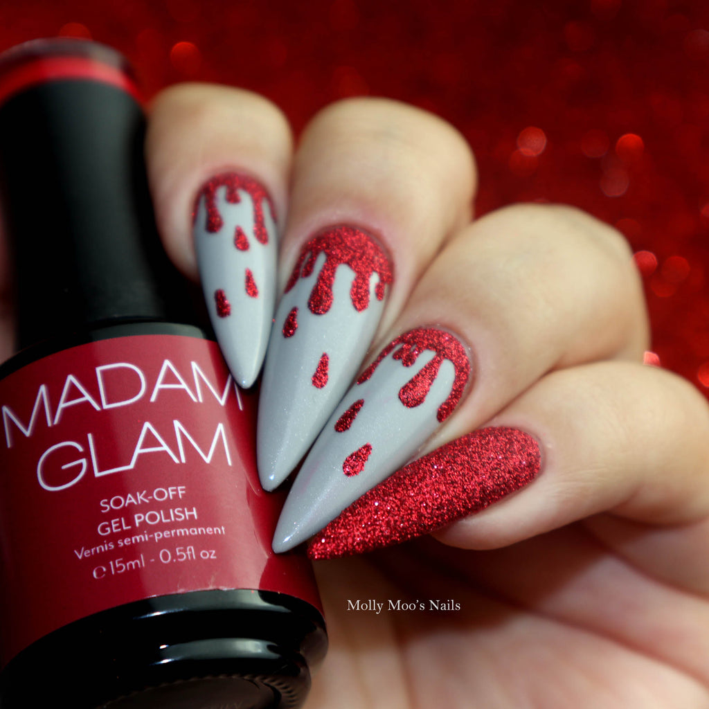 Easy Halloween Dripping Blood Nail Art Tutorial
