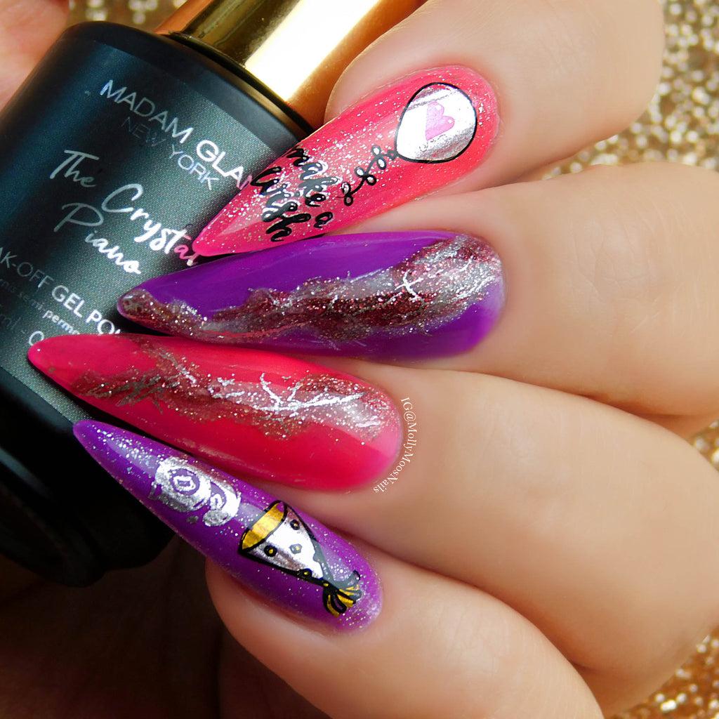 #creativechallenge: Birthday Nail Art Design
