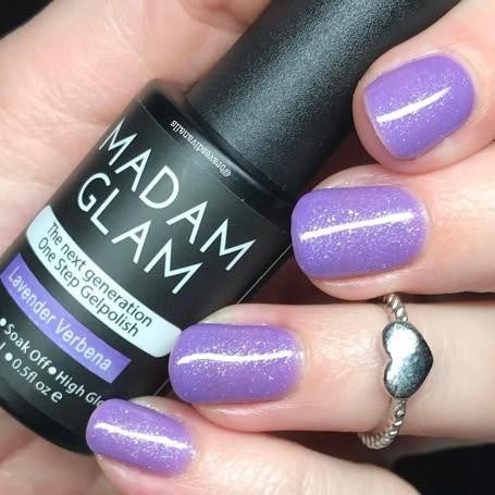 madam glam, gel, purple, lavender