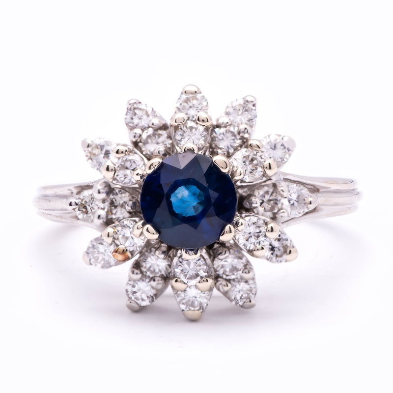 Women's 2-in-1 ~1ct Royal Blue Sapphire Ring in 14k Gold