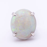 Women's 20.84ct Australian Solid Opal Ring in Platinum