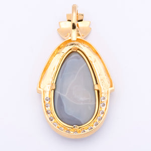 Women's 18-20ct Opal Pendant/Enhancer in 18k Yellow Gold