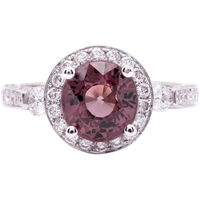 Women's ~3.51ct Color Change Garnet in 18k White Gold
