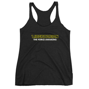 Libertarian Force Awakens Women's Racerback Tank