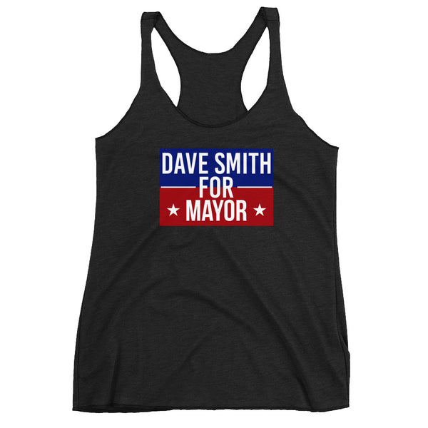 Dave Smith for Mayor Women's Racerback Tank