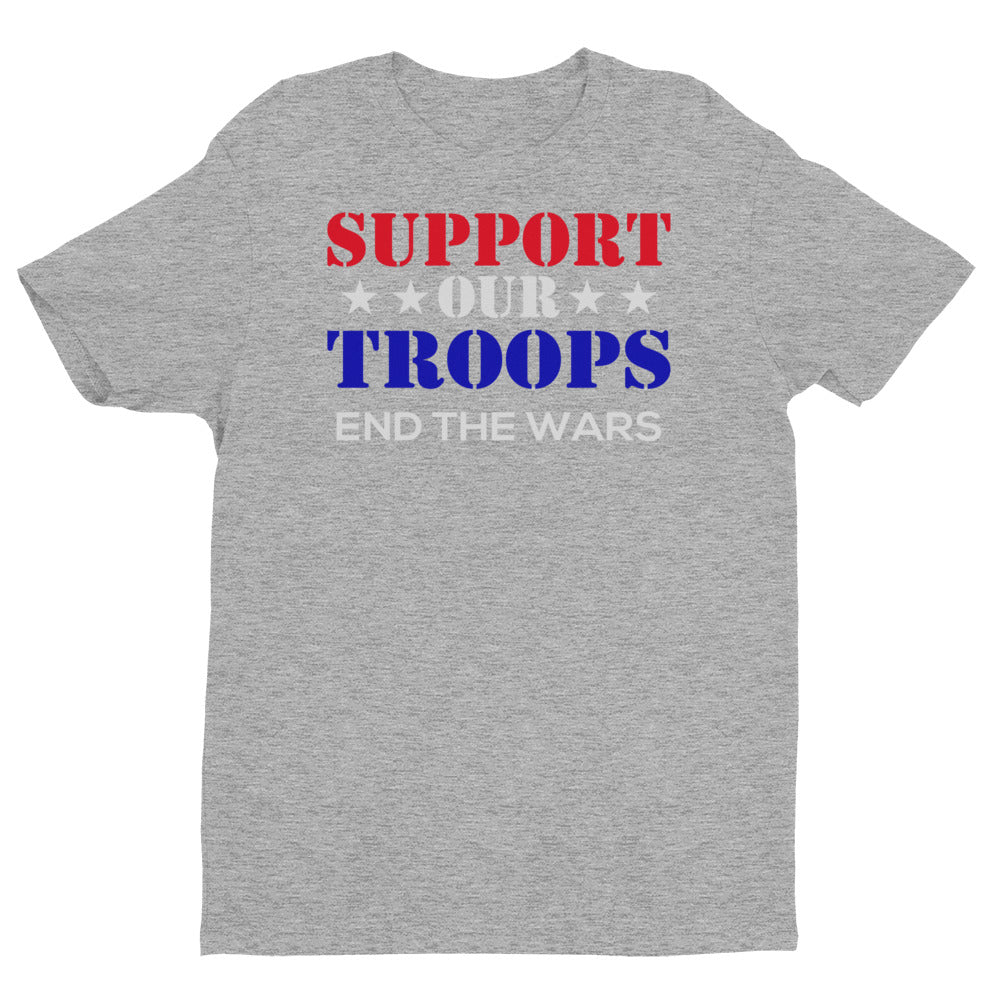 Support Our Troops - End the Wars Short Sleeve T-shirt